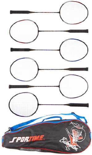 Sportime Tempered Badminton Racquets Carrying