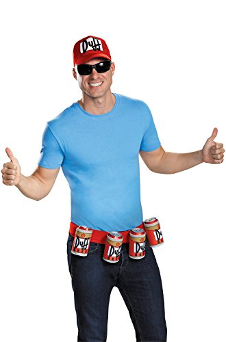 Disguise Men's Duffman Costume Kit, Multi, One (Duffman Fancy Dress)