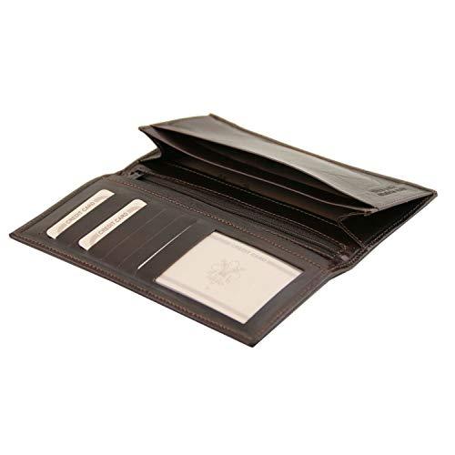 Portafoglio Nero In Esclusivo Leather Ante Verticale Tuscany Marrone 2 Pelle Uomo qUvE6xxw
