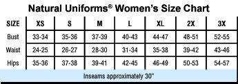 Natural Uniforms Drawstring Boot Cut Pant (Black S)
