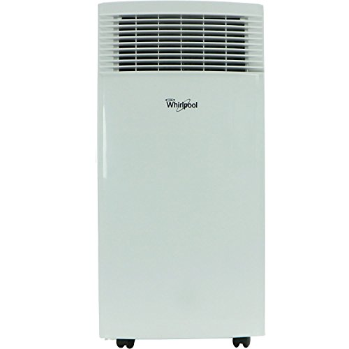 Whirlpool 10,000 BTU Single-Exhaust Portable Air Conditioner with Remote Control in White, Rooms up to 200-Sq. Ft.