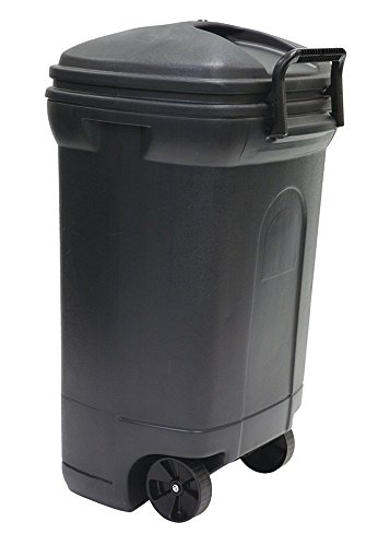 United Solutions TB0017 Rectangular Wheeled Trash Can with Hook and Lock Handle, 45-Gallon, 2-Pack by United Solutions