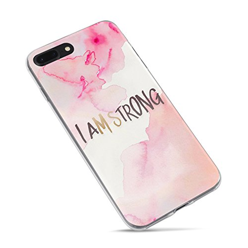 iPhone 6 Plus Case,iPhone 6s Plus Cute Case,Girls Women Bible Verses Quotes Christian Inspirational Motivational Tie Dye Pink Girly Ms Strong Im Strong Christ Lord Soft Case for iPhone 6 Plus/6s Plus (Plus Iphone 6 Quotes Case Girly)