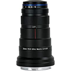 Dedicated to extreme close-up imaging, the Canon RF-mount Laowa 25mm f/2.8 2.5-5X Ultra Macro from Venus Optics is a specialized macro lens for photographing subjects at magnifications greater than life-size. Operating within a 2.5:1 to 5:1 r...