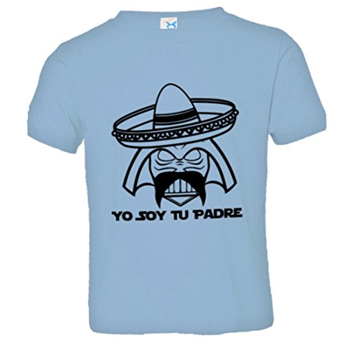 Price comparison product image PleaseMeTees Toddler Soy Tu Padre Father Mexican Sombrero Tee Lt Blu-4