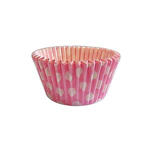 12優れた品質マフィン/カップケーキCases by Hollyカップケーキ:ピンクドット柄 B00P4J1W5Y