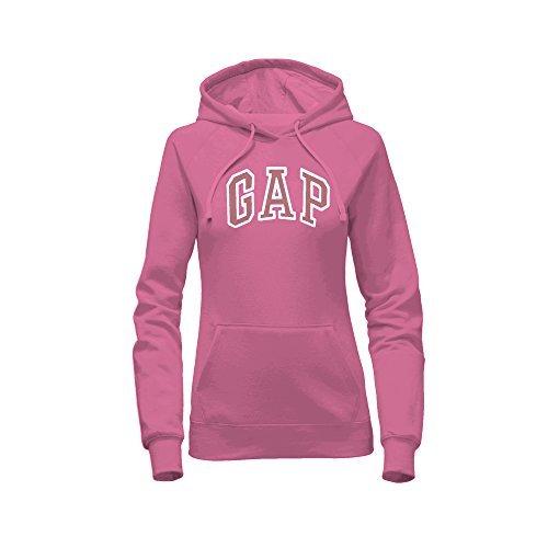 GAP Women's Pullover Fleece Logo Hoodie (Large, Pink)