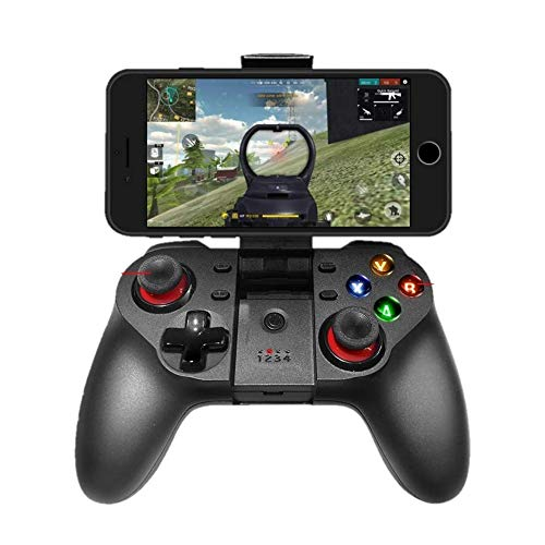 Upgraded Mobile Game Controller, Wireless Bluetooth Gamepad Joystick Multimedia Game Controller Compatible with iOS Android iPhone iPad Other Phone Windows PC, Perfect for The Most Games (Windows Phone Game Controller)