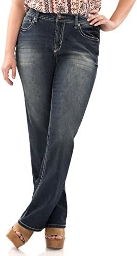 WallFlower Juniors Plus Size Basic Legendary Bootcut Jeans