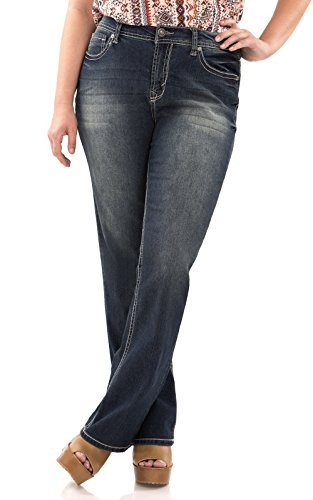 WallFlower Plus Size Basic Legendary Bootcut Jeans in Katy Size:18