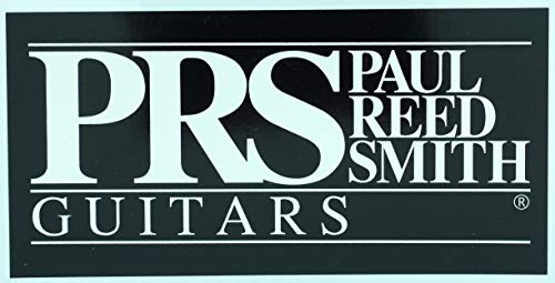 PRS Paul Reed Smith Guitars Authentic Black Vinyl Sticker Decal (Paul Reed Smith Decal)