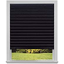 Original Blackout Pleated Paper Shade Black, 36 x 72, 6-Pack (Renewed)
