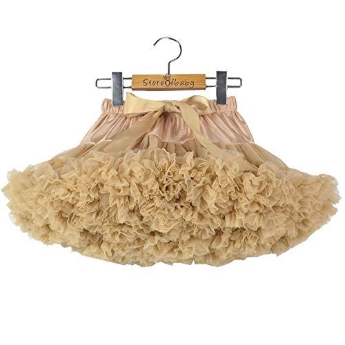 Girls Tulle Layered Tutu Skirt Classic Ballerina Pettiskirt Christmas Dress Khaki