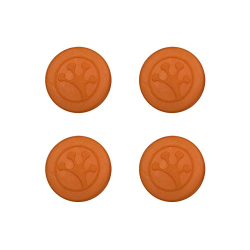 Grip-iT Analog Stick Thumb Grips for PlayStation and Xbox, 4 Pack, Orange
