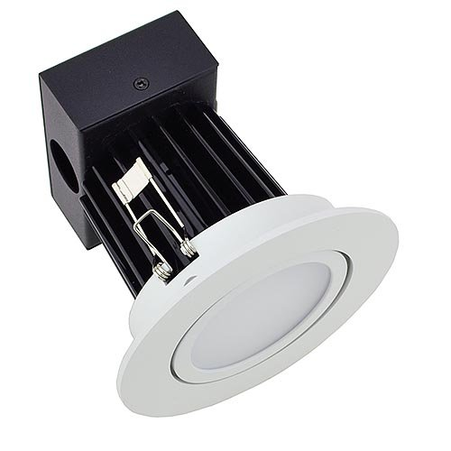 LEDwholesalers Dimmable LED Retrofit Downlight with Adjustable Head and White Trim, ETL Listed, 4-Inch 12 Watt Ultra Warm Warm 2700K, 2208WW-2700k by LEDwholesalers