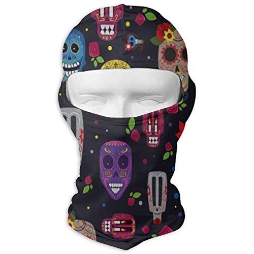 Balaclava Halloween Colorful Skull Full Face Masks UV Protection Ski Hat Mask Motorcycle Hood for Cycling Hiking Women Men