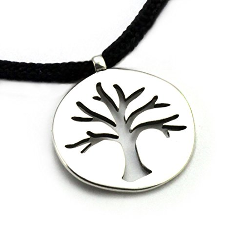 Tarma Sterling Silver Tree of Life Pendant, One Size, Black (Sterling Silver Custom Cast)