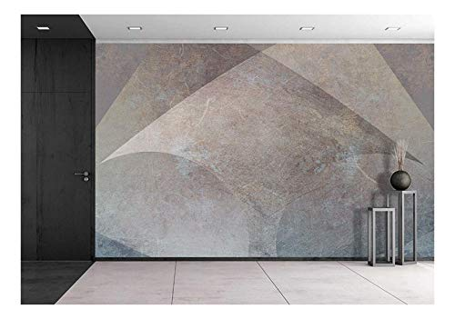 wall26 - Scratched Brown Metal Background with Arrow Shape - Removable Wall Mural | Self-adhesive Large Wallpaper - 100x144 inches