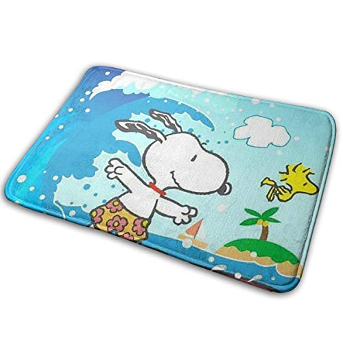 Meirdre Welcome Door Mat Snoopy Surf Indoor Outdoor Entrance Rug Floor Mats Shoe Scraper 15.7