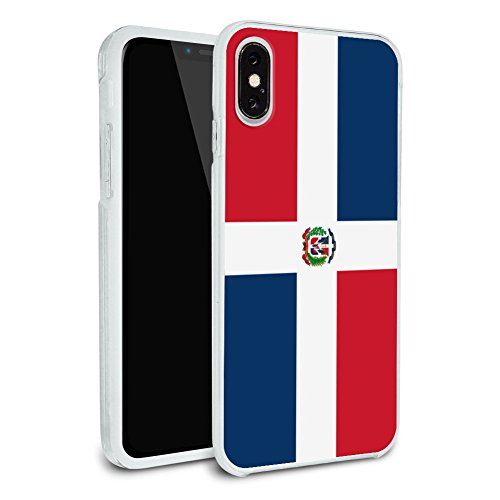 The Dominican Republic Country Flag Protective Slim Fit Hybrid Rubber Bumper Case Fits Apple iPhone X