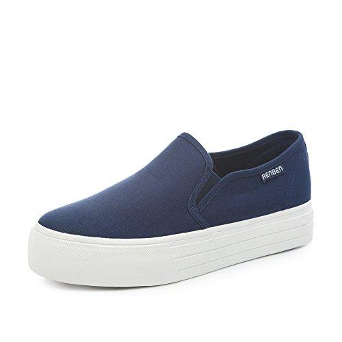 Verano Fu Suela D Zapato Con Estudiantes zapatos De Zapatos Casual Lona Lok Coreanos bizcocho Gruesa A Los aire Pedal 4YTRxEY
