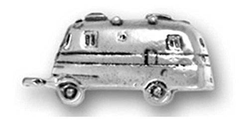 Sterling Silver 3D RV Mobile Motorhome Bus Recreational Vehicle Charm