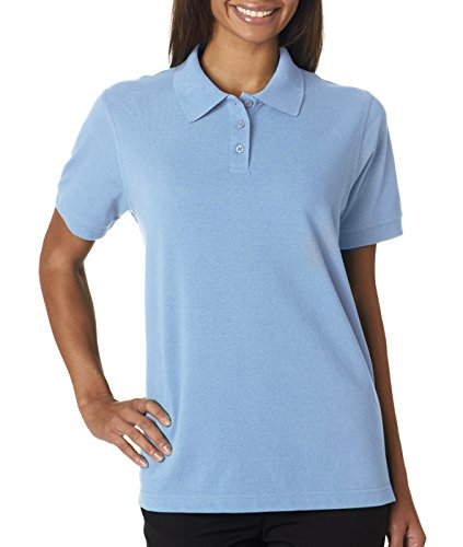 UltraClub Ladies' Classic Piqué Polo (Baby Blue) (2X-Large)