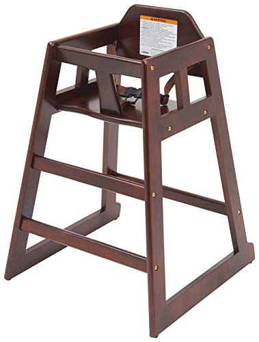 picture of Winco CHH-103 Unassembled Wooden High Chair, Mahogany