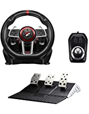 Flashfire Suzuka 900R racing wheel set with Clutch pedals and H-shifter for PC, PS3, PS4, Xbox 360, XBOX ONE and Nintendo Switch