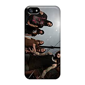 High Quality Mobile Case For Apple Iphone 5/5s With Custom Colorful Suicide Silence Band Image TimeaJoyce