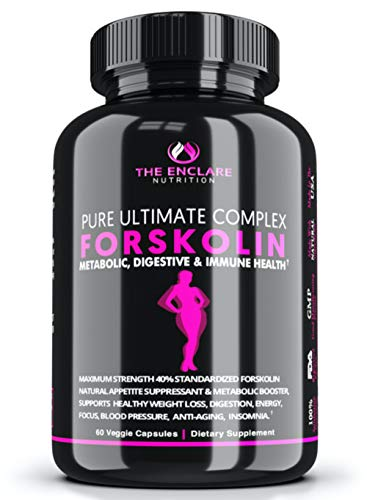 100% Pure FORSKOLIN Extract for Weight Loss, Belly Buster, Appetite Suppressant, Burn Fat, Lose Weight Fast, Lose Belly…