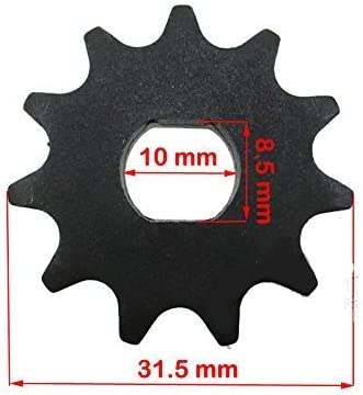 for 100w 125w 150w 200w 250w 300w electric scooter motors 11 Tooth Sprocket 10mm D-bore, use #25 chain