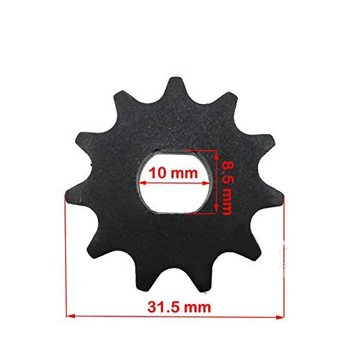 - 11 tooth sprocket (Dual D-bore) Motor Sprocket for EVO 1000 Electric Scooter (For 8mm Chain)