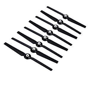 Hooshion 4 Pairs Propellers Rotor Blade Sets A & B for YUNEEC Q500 Q500M Q500+ Q500 4K Typhoon G RC Air Force Airplane Helicopter Propeller Quadcopter Drone(Black) 417hSwWxcpL