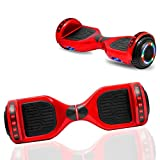 NHT Newest Edition Electric Hoverboard Self Balancing Scooter with Built-in Bluetooth Speaker LED Lights - Safety Certified