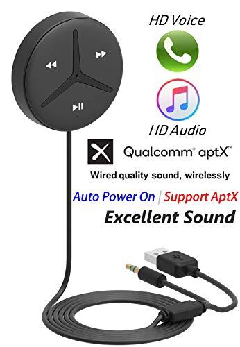 (Aston SoundTek A2,Aux Bluetooth 4.2 Car Kits,Bluetooth Receiver, AptX Codec,Auto On & Reconnect,SNR 95dB,Ground Loop Noise Isolator,MIC,Siri,Google,Handsfree Call,Music Streaming for Car Audio)