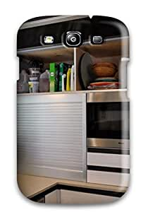 ASPUozc1181IJYzs Snap On Case Cover Skin For Galaxy S3(contemporary Glass Tilt Door With Aluminum Frame)
