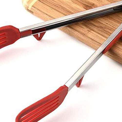 2櫛形スパゲッティクリップフードクランプバーベキュークリップホームレストランキッチンツール(赤)