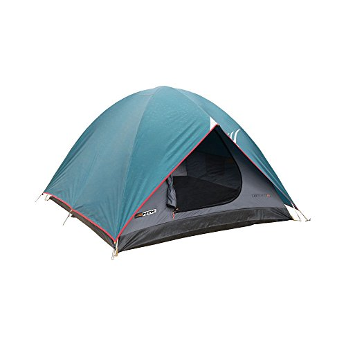 NTK Cherokee GT 5 to 6 Person 9.8 by 9.8 Foot Outdoor Dome Family Camping Tent 100% Waterproof 2500mm, Easy Assembly, Durable Fabric Full Coverage Rainfly - Micro Mosquito Mesh for Maximum Comfort