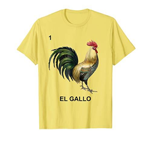 El Gallo Loteria Mexicana Card Mexican Bingo Shirt Rooster -
