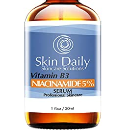 Niacinamide Serum for Face 5%- 1 Oz – Vitamin B3 Cream Visibly Beautify Pores and Wrinkles and Other Signs of Aging – Superior Moisturizing Skin Brightening Facial Serum – Your Friends Will Notice