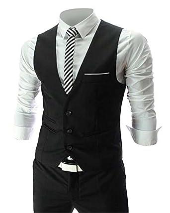 Zicac Men's Top Designed Casual Slim Fit Skinny Dress Vest ...