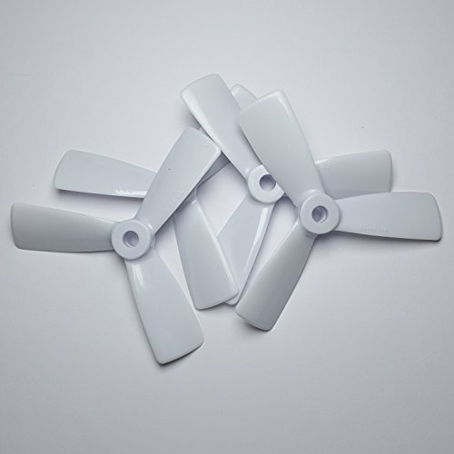 AvatarRC Geniune Dalprop T3045-3 (3×4.5×3) Tri Blade White Propellers for 250 Size Quadcopters, Drones, and Multi-rotors – Perfect for 210mm to 300mm frames