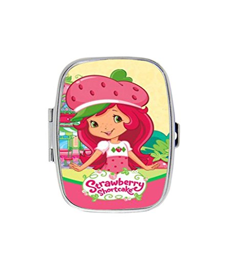 Strawberry Shortcake Custom Unique Stainless Steel Pill Box Medicine Tablet Holder Decorative Metal (Strawberry Shortcake Furniture)
