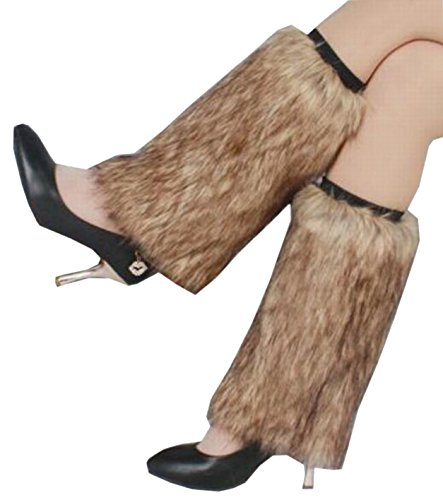 Ovetour Women's Cozy Winter Furry Faux Fur Leg Warmers Warm Boot Cuffs Cover ()