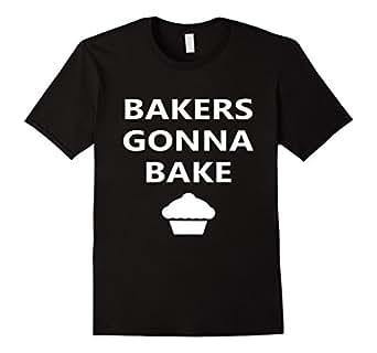Men's Bakers Gonna Bake Funny Cooking T-shirt 3XL Black