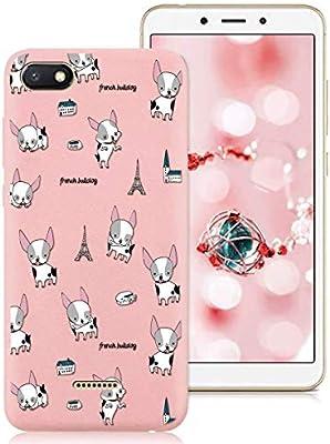 ZhuoFan Xiaomi Redmi 6A Case, Phone Cases Pink Liquid Silicone ...