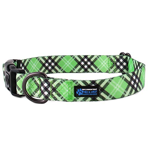 Max and Neo Plaid Pattern NEO Dog Collar - We Donate a Colla