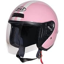 CUSTOM BILT Women's Roadster Retro Open-Face Motorcycle Helmet - MD, Pink/Cream