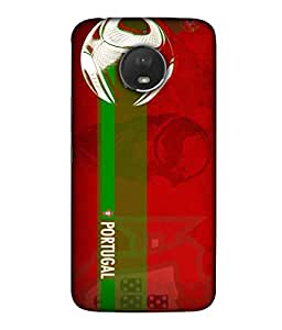 ColorKing Football Portugal 10 Red shell case cover for Motorola Moto E4 Plus
